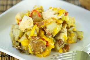 Loaded Idaho® Potato Chicken Casserole Dutch oven Recipe