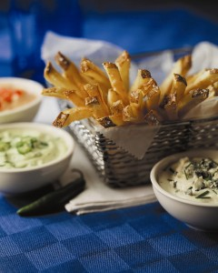 Fresh cut fries and dipping sauces