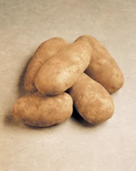 Idaho Russet Burbank Potatoes, washed and ready to cut and fry