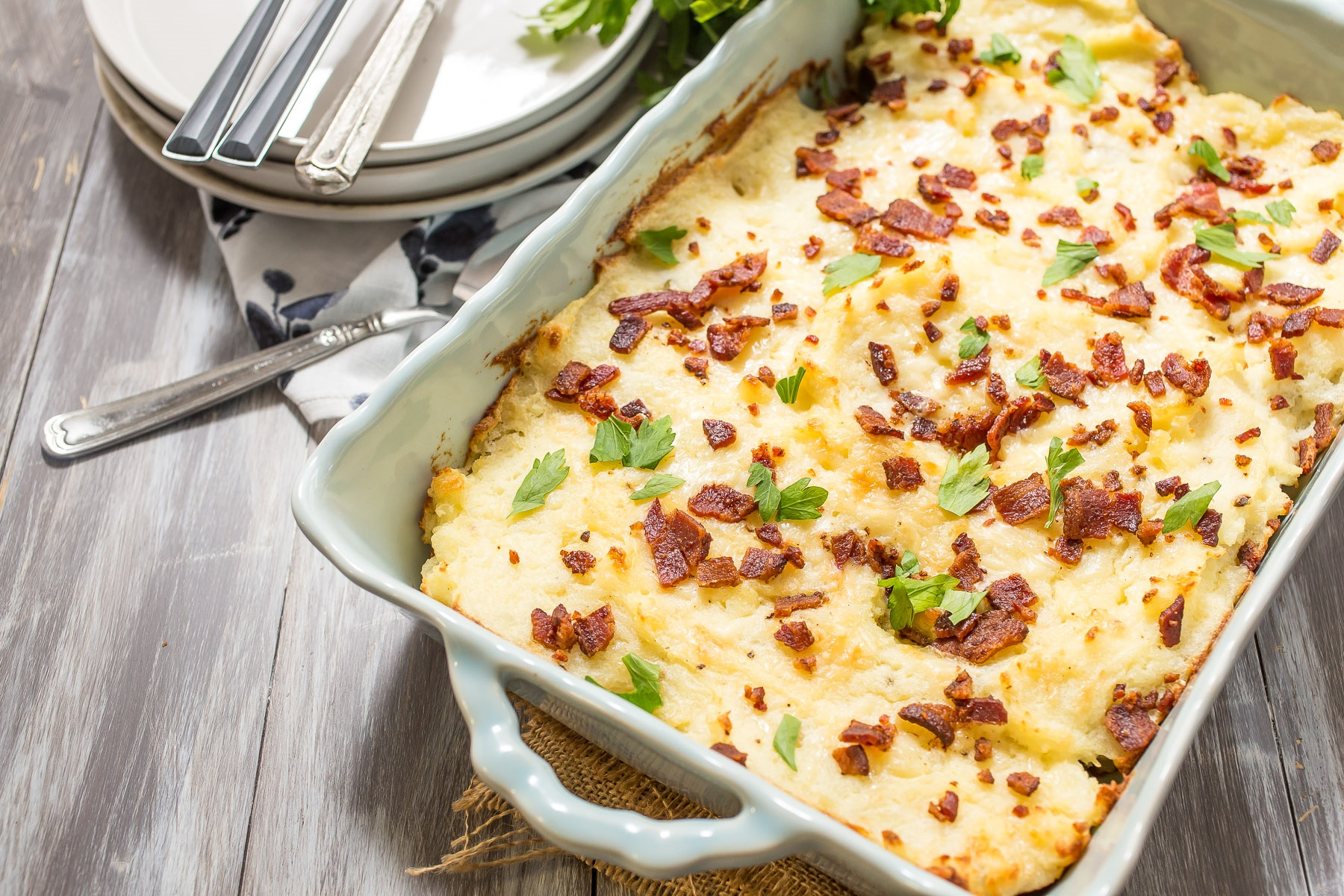 Twice Baked Idaho Potato Casserole Idaho Potato Commission