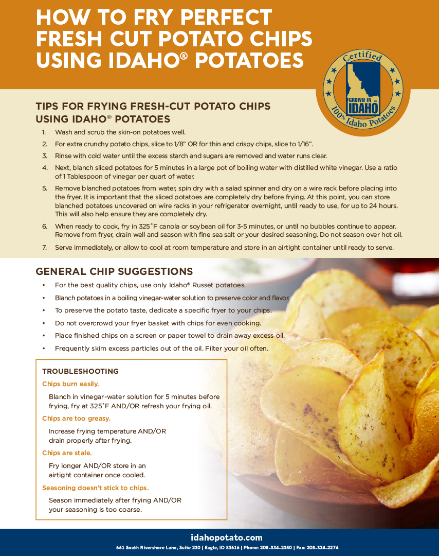 How To Fry Perfect Fresh Cut Potato Chips Using Idaho® Potatoes