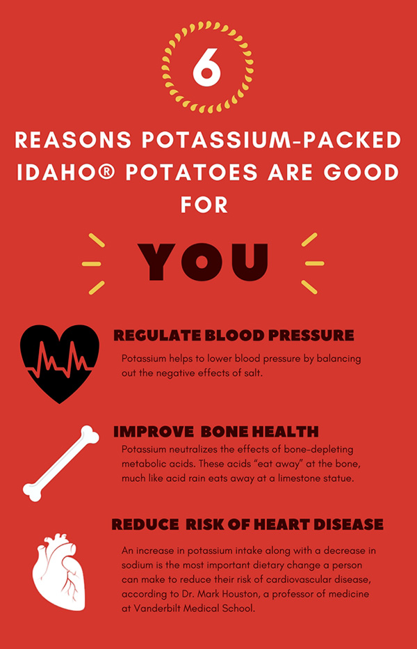 6 reasons potassium-packed Idaho® potatoes are good for you