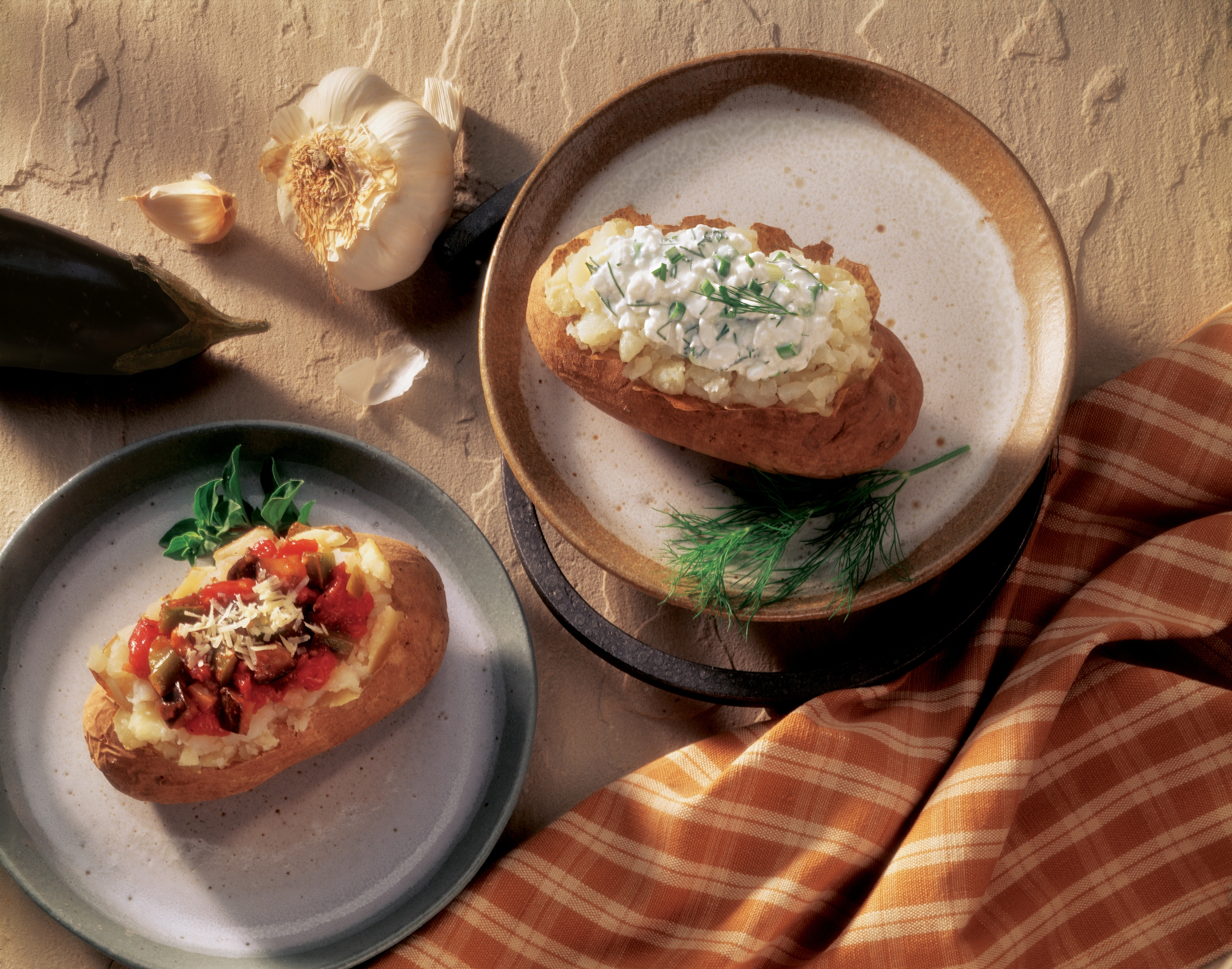 Surprising Baked Idaho Potato With Herbed Cottage Cheese And Baked Idaho Potato With Eggplant Parmigiana Download Free Architecture Designs Scobabritishbridgeorg