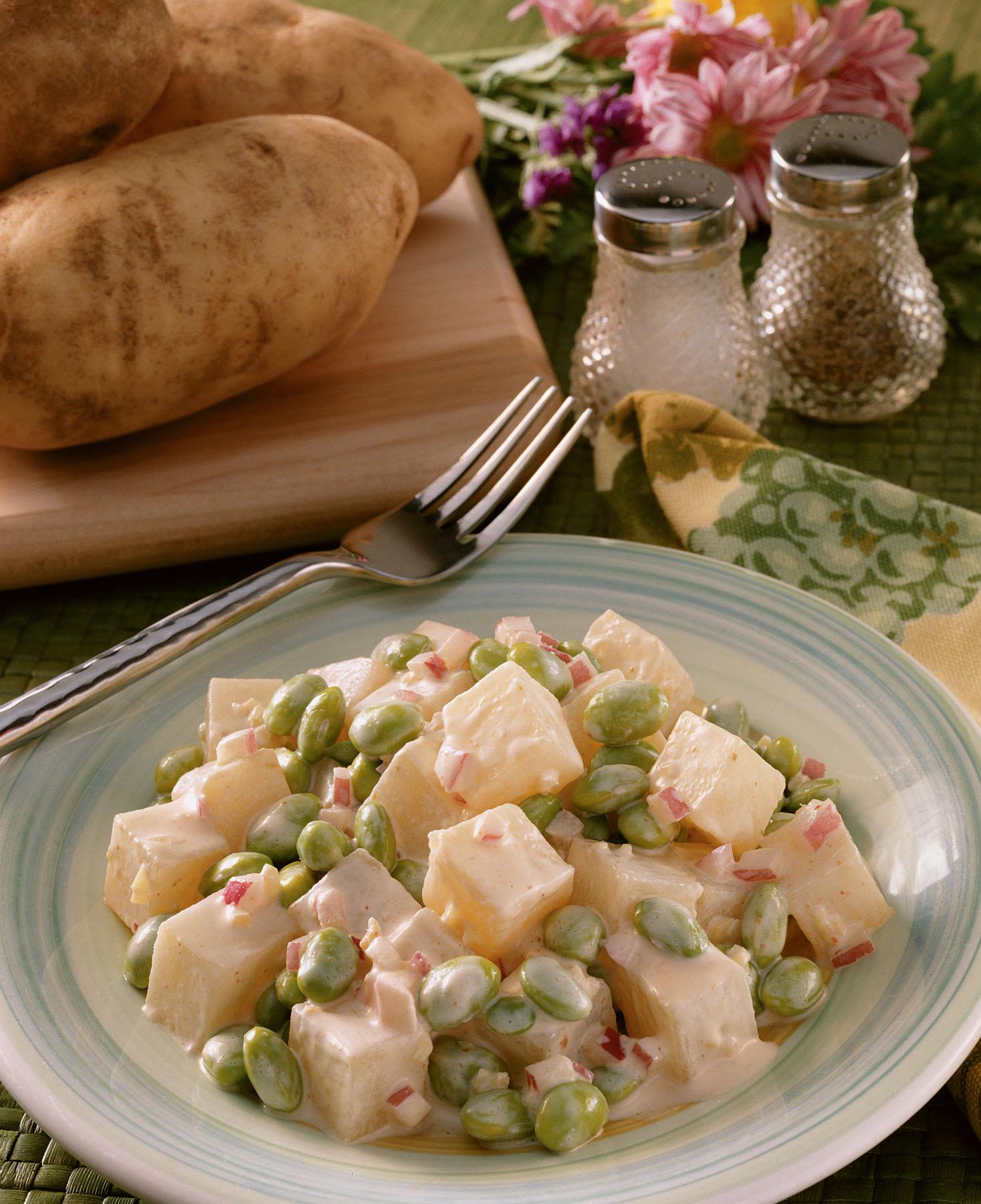 Potato and Edamame Salad