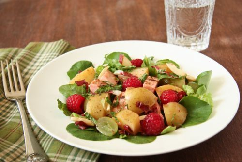 Idaho® Potato and Grilled Chicken Salad with Raspberries