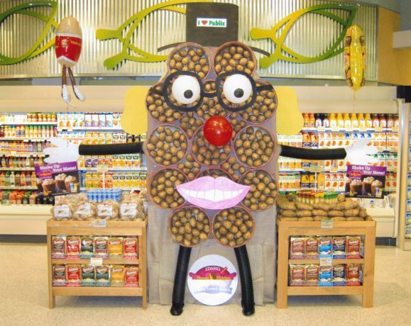 Ernest Junak's creative display at Publix Supermarket in Evans, GA earned fifth place among stores with 10+ cash registers.