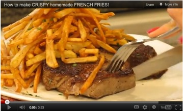 This video for Cowboy Steak and Lemon Parsley Shoestring Fries features a memorable Father's Day meal made with Idaho® potatoes.  (Geez Louise!, LouiseMellor.com)
