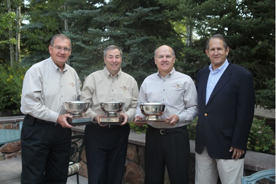 From left: Don Odiorne, vice president, Foodservice, IPC; Seth Pemsler, vice president, Retail/International, IPC; and Frank Muir, president and CEO, IPC; accepted Produce Business Marketing Excellence Awards from Eric Nieman, associate publisher of Produce Business.