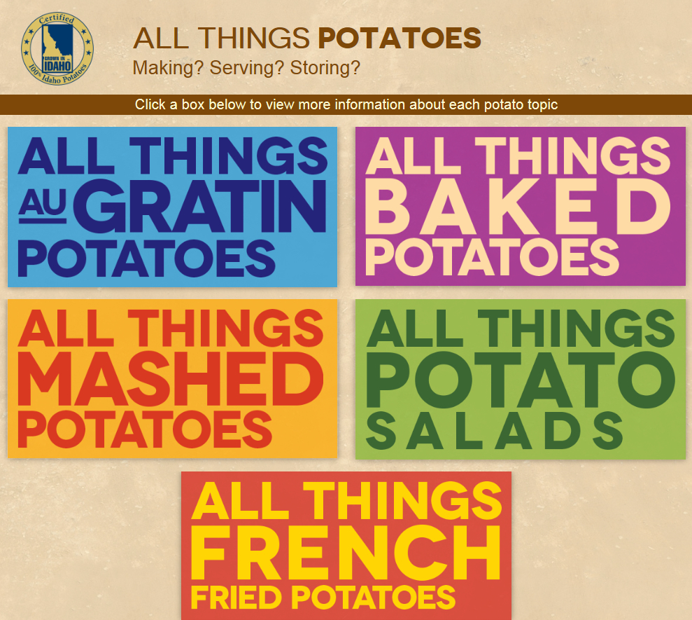 All Things Potatoes Page